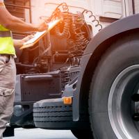 inspecting lorry